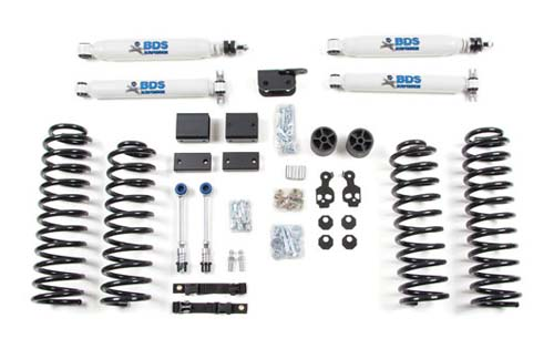 "Fat Bob's Garage, BDS Part #1423H, Jeep Wrangler JK 2 Door 3"" Front 3"" Rear Lift Kit 2007-2011"