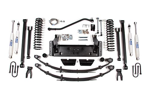 "Fat Bob's Garage, BDS Part #1427H, Jeep XJ Cherokee 4.5"" Front 4"" Rear Suspension System 1987-2001_MAIN"