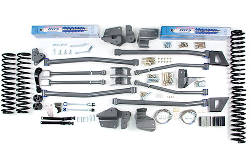 "Fat Bob's Garage, BDS Part #1407H, Jeep JK Wrangler 4.5"" Long Arm Suspension Lift 4-Door 2007-2016 4WD MAIN"