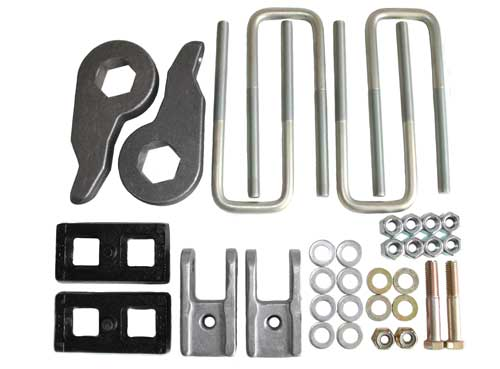 "Chevrolet 1500 3"" Lift Kit w/ 1"" Lift Blocks 4WD 1999-2007 (6-lug) LARGE"