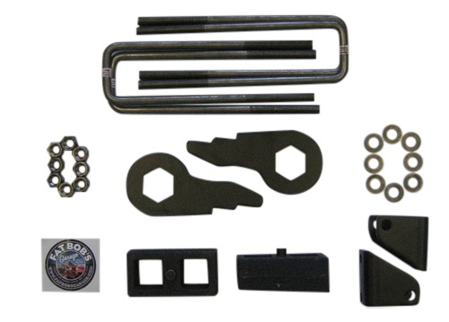 "Fat Bob's Garage, Part # 5058-FBB2-50, Chevrolet/GMC 1500/2500/3500 3""front 2"" rear lift kit 4WD/2WD 2000-2010_THUMBNAIL"