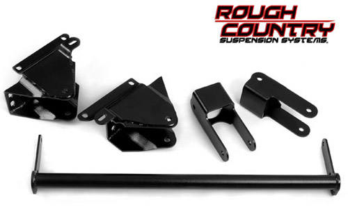 "Fat Bob's Garage, Rough Country Part #511, Ford F250/F350 Super Duty 2.5"" Shackle Leveling Lift Kit 4WD 1999-2004 LARGE"