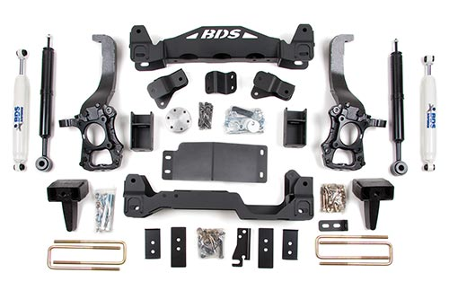 "Fat Bob's Garage, BDS Part #573H, Ford F150 6"" Front 5"" Rear Suspension System 2009-Present 4WD"