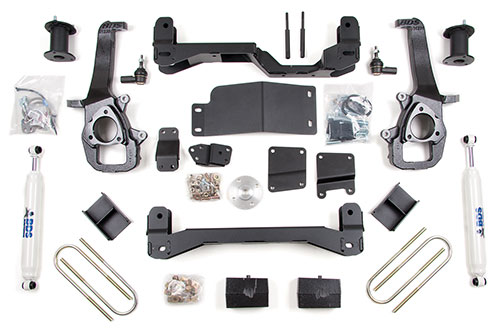 "Fat Bob's Garage, BDS Part #624H, Dodge Ram 1500 6"" Front 4"" Rear Suspension Kit 2006-2008 MAIN"