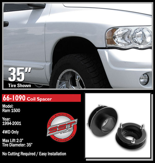 "Fat Bob's Garage, Ready Lift Part #66-1090, Dodge Ram 1500 2"" Front Leveling Kit 4WD 1994-2001 LARGE"