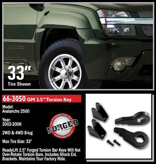 """Chevy Avalanche 2500 3"""" Front Leveling Kit 4WD/2WD 2002 ..."""