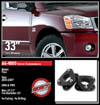 "Fat Bob's Garage, Ready Lift Part #66-4000, Nissan Titan 2"" Front Leveling Kit 4WD/2WD 2004-2007"