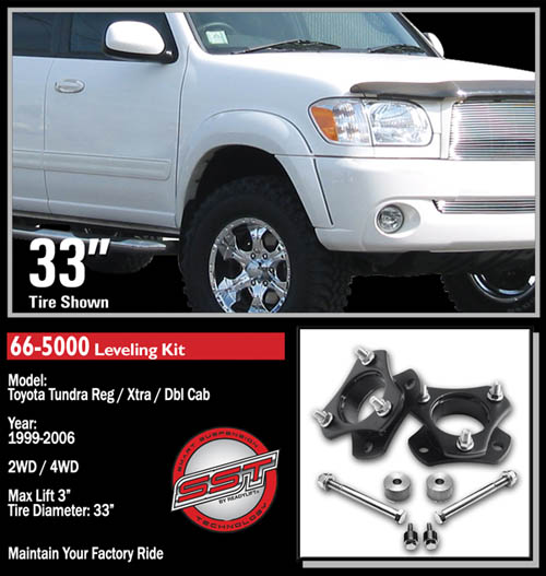 "Fat Bob's Garage, Ready Lift Part #66-5000, Toyota Tundra 3"" Front Leveling Kit 4WD/2WD 1999-2006 LARGE"