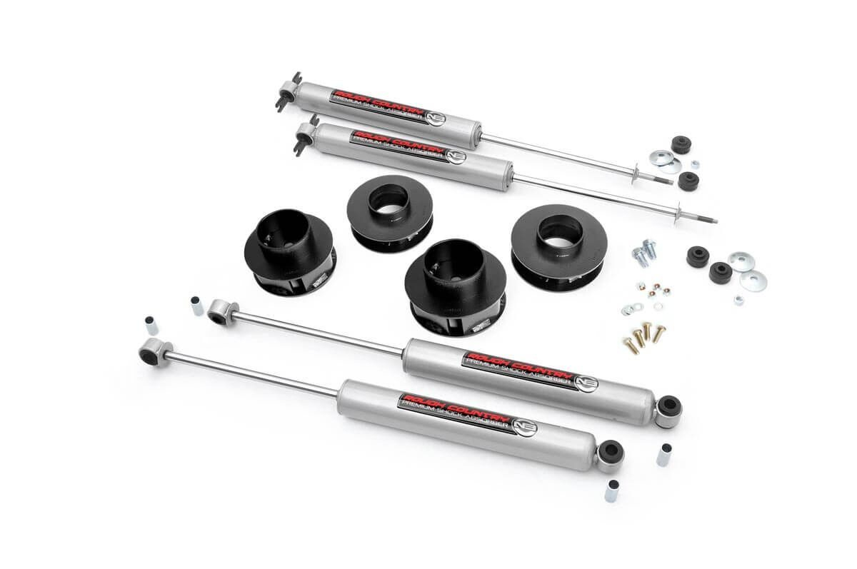 "Fat Bob's Garage, Rough Country Part #69530, Jeep Grand Cherokee WJ 2"" Lift Kit 1999-2004 THUMBNAIL"