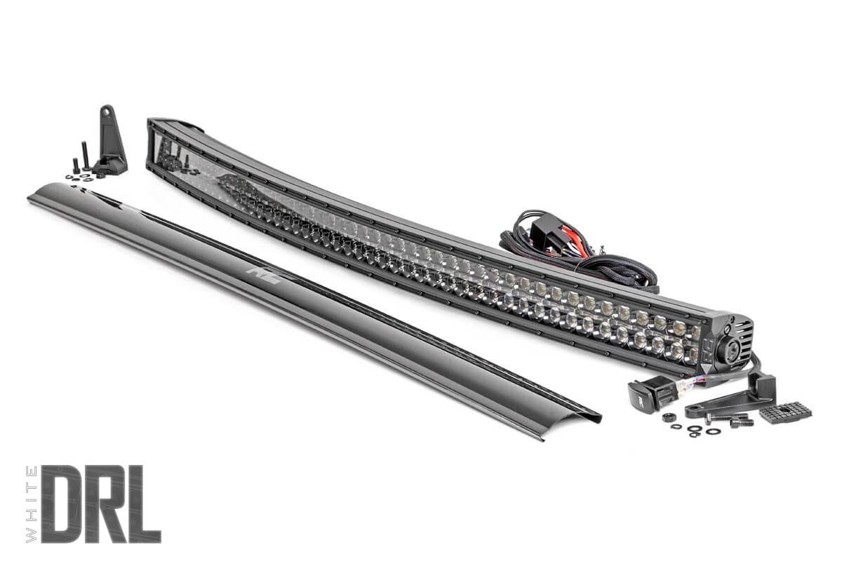 "50"" Curved Cree LED Light Bar - Dual Row - Black Series w/ DRL THUMBNAIL"