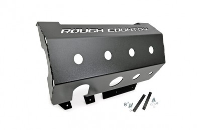 Fat Bob's Garage, Rough Country part #779, Jeep Wrangler Muffler Skid Plate 2WD/4WD 2007-2015 MAIN