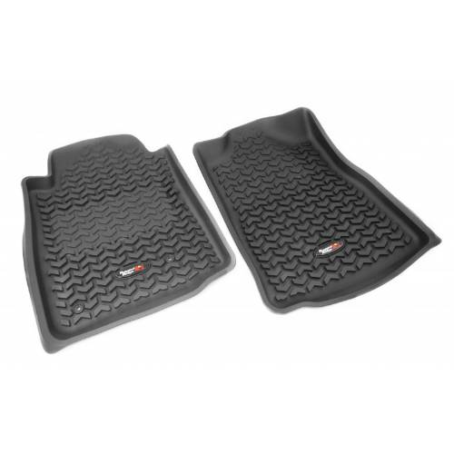 Fat Bob's Garage, Rugged Ridge, Part #82904.10, All Terrain Front Floor Liners Tread Lightly 05-12 Toyota Tacomas MAIN