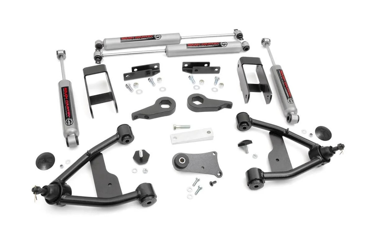"Fat Bob's Garage, Rough Country Part #242N2, Chevy/GMC S10/S15 2.5"" Suspension Lift Kit 4WD 1982-2005 MAIN"