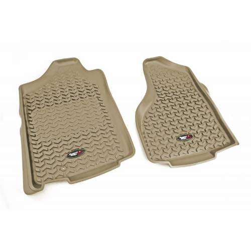 Fat Bob's Garage, Rugged Ridge, Part #83903.01, Front Floor Liners Tan Tread Lightly 02-12 Ram 150025003500 MAIN