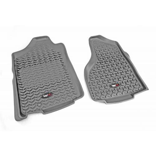 Fat Bob's Garage, Rugged Ridge, Part #84903.01, F Gray Floor Liner Pr 02-12 Dodge Ram 1500/2500/3500 W/Tl Logo MAIN