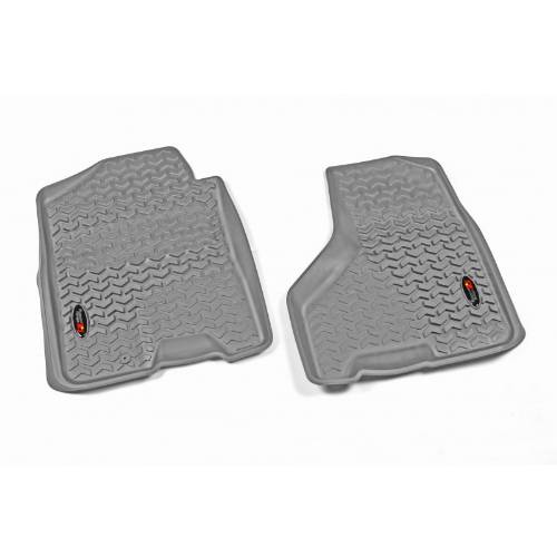 Fat Bob's Garage, Rugged Ridge, Part #84903.04, Front Gray Floor Liner Pair For 09-12 Ram 1500/2500/3500 MAIN