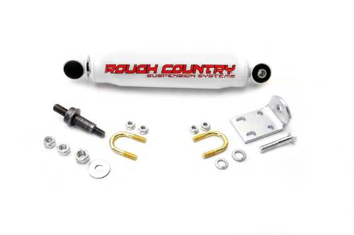 Fat Bob's Garage, Rough Country Part #87324, Chevrolet/GMC S10/S15 Pickup/Blazer/Jimmy Steering Stabilizer 1984-2004_MAIN