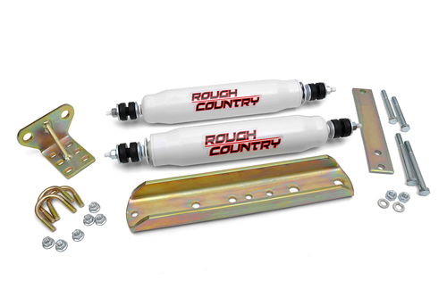 Fat Bob's Garage, Rough Country Part #87338.2, Ford F150 F250 F350 Dual Steering Stabilizer 2WD/4WD 1980-1996 MAIN