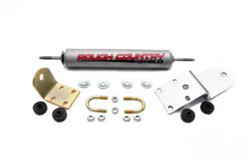 Fat Bob's Garage, Rough Country Part #87386.20, Chevrolet/GMC 1500/2500 Pickup Steering Stabilizer 1988-1998 MAIN