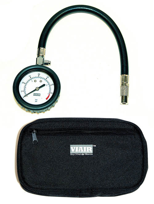 "Fat Bob's Garage, VIAIR Part #90057, 2.5"" Tire Gauge w/ Hose LARGE"