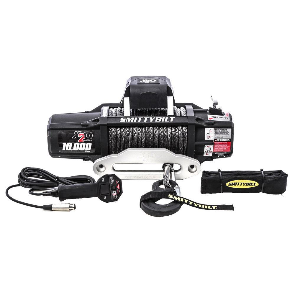 Smittybilt X2O 10K Waterproof Synthetic Rope 10000lb Wireless Winch Gen2 with Fairlead THUMBNAIL