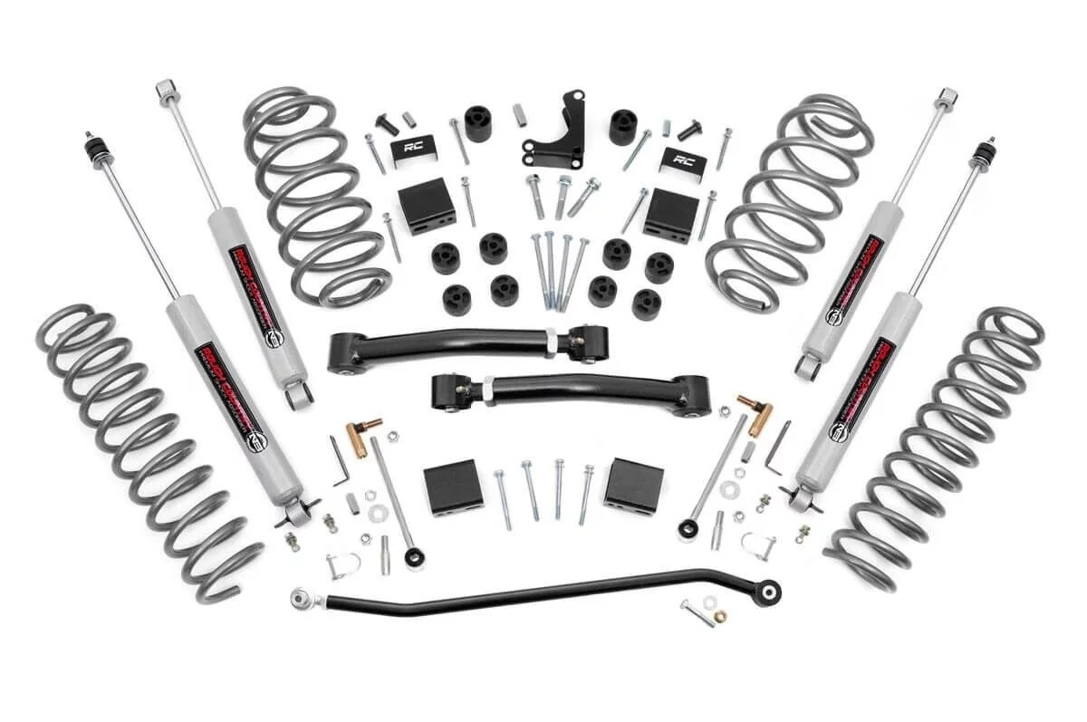 "Fat Bob's Garage, Rough Country Part #639P, Jeep Grand Cherokee WJ 4"" X-Series Suspension Lift Kit 1999-2004 THUMBNAIL"