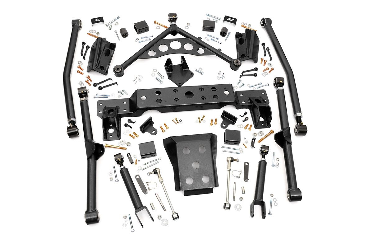 "Fat Bob's Garage, Rough Country Part #909, Jeep WJ Grand Cherokee 4"" Long Arm Upgrade Kit 1999-2004 THUMBNAIL"