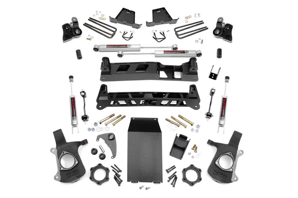 "Fat Bob's Garage, Rough Country Part #272N2, Chevrolet/GMC Silverado/Sierra 1500 6"" Non-Torsion Drop Lift Kit 1999-2006 THUMBNAIL"