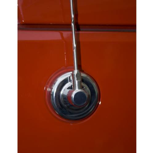 Fat Bob's Garage, Rugged Ridge, Part #13311.26, Jeep JK Wrangler Antenna Base Cover, Chrome 2007-2016 THUMBNAIL