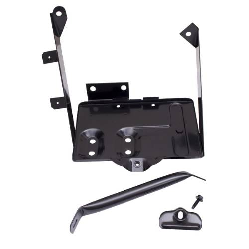 Fat Bob's Garage, Rugged Ridge, Part #11214.01, Jeep CJ Battery Tray Kit 1976-1986_MAIN