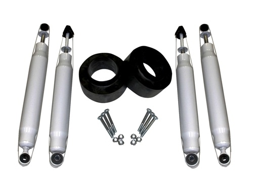 "Fat Bob's Garage, Part # 11200-FR8KS, Dodge Ram 2500 3500 2"" Leveling Lift Kit w/ (4) Shocks 4WD 1994-2012_THUMBNAIL"