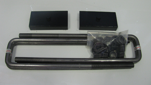 "Fat Bob's Garage, Part # FBB1-50-DUALLY, Chevrolet/GMC 3500 1"" Steel Rear Block & U-Bolt Lift Kit 2001-2010 DUALLY ONLY LARGE"