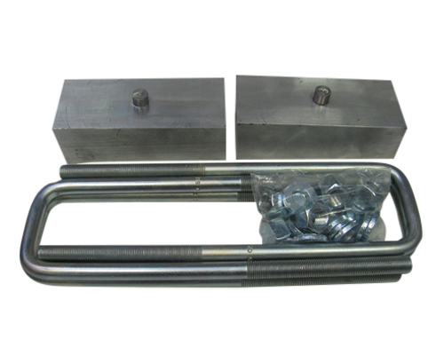"Fat Bob's Garage, Part # FBBAL2-50, Chevrolet/GMC 1500/2500/3500 2"" Rear Block & U-Bolt Lift Kit 4WD/2WD 2000-2010"