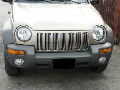 Fat Bob's Garage, Precision Grilles Part #886110, Jeep Liberty 2004-2007 Vertical Billet - Upper Grilles