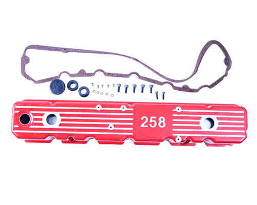 Fat Bob's Garage, OMIX-ADA Part #639258R, Aluminum Valve Cover, Red MAIN