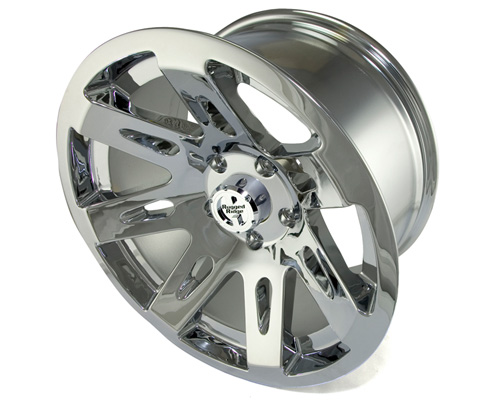 Fat Bob's Garage, Rugged Ridge, Part #15301.20, Aluminum Wheel 17X9, Polished Chrome, 12MM Offset, 5 On 5 THUMBNAIL