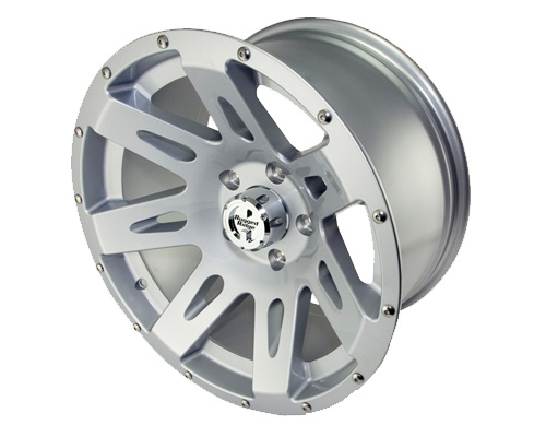 Fat Bob's Garage, Rugged Ridge, Part #15301.40, Aluminum Wheel 17X9, Silver, 12MM Offset, 5 On 5 THUMBNAIL