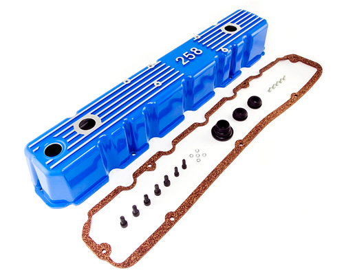 Fat Bob's Garage, OMIX-ADA Part #639258B, Aluminum Valve Cover, Blue MAIN