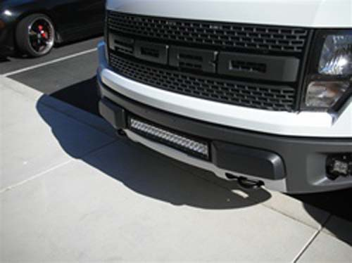 "Fat Bob's Garage, Rigid Industries Part #CRADLE20-RPTR,  Ford Rapter Grill Cradle Mount for 20"" LED Light Bar THUMBNAIL"