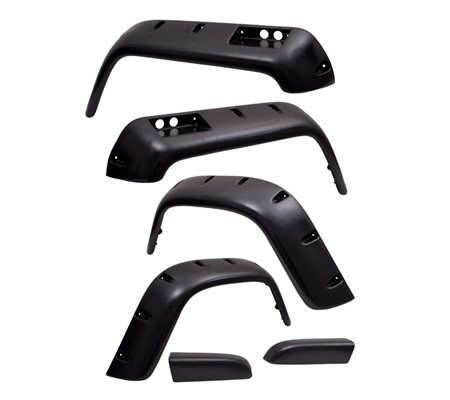 Fat Bob's Garage, Rugged Ridge, Part #11632.10, Jeep YJ Wrangler All Terrain Fender Flare Kit 1987-1995 MAIN