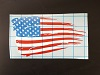 Fat Bob's Garage - Tattered Flag Decal