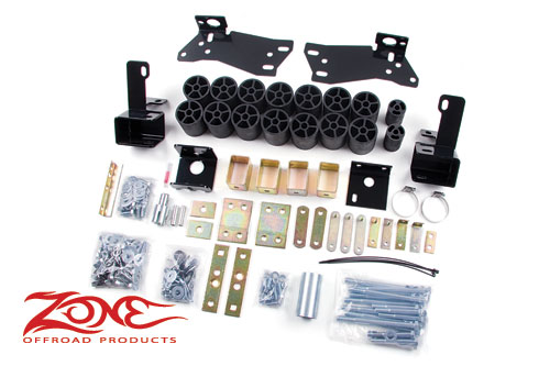 "Fat Bob's Garage, Zone Offroad Part #C9352, Chevrolet/GMC 1500 2WD/4WD 3"" Body Lift Kit 2006-2007 MAIN"