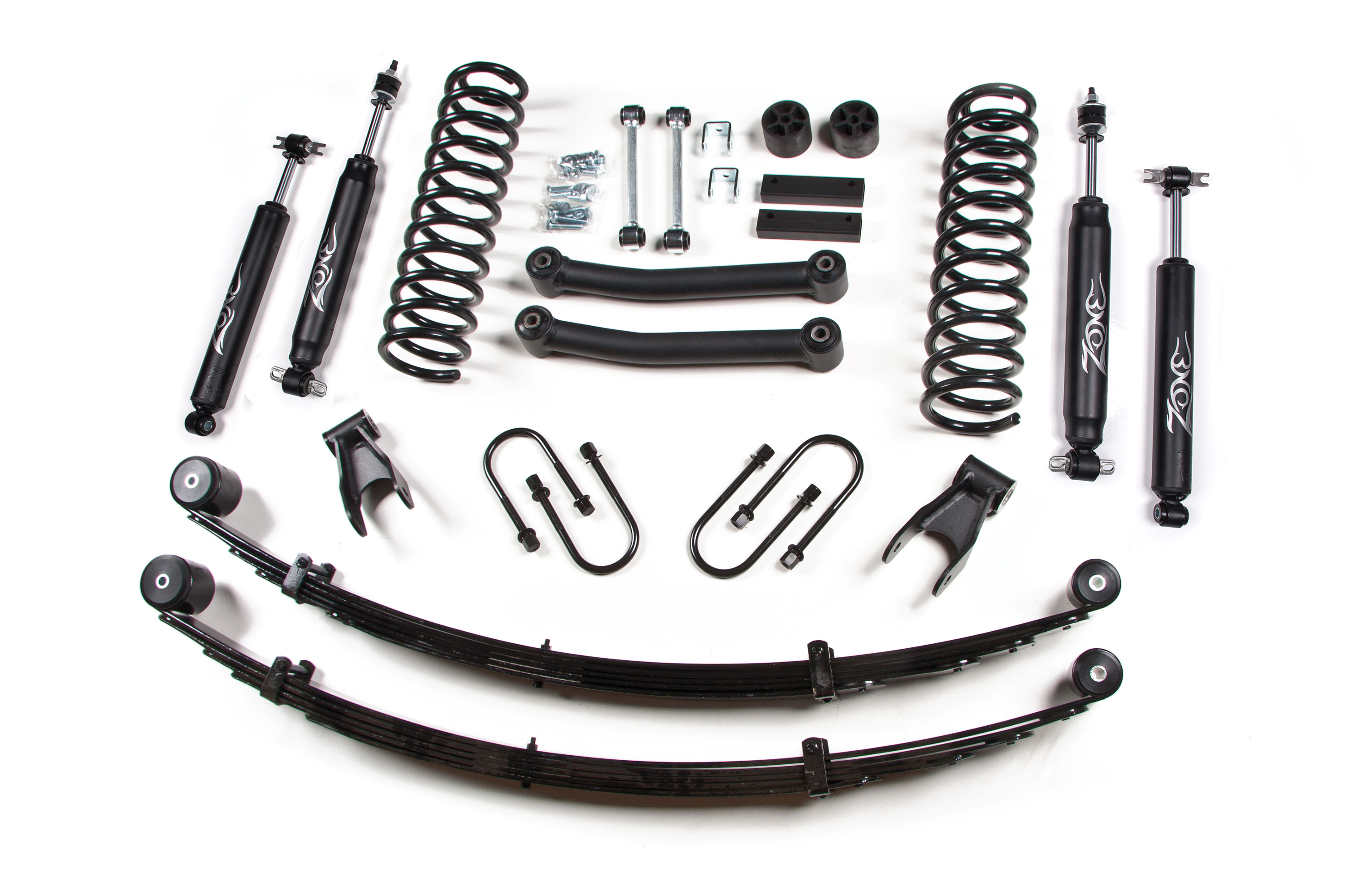 "Fat Bob's Garage, Zone Offroad Part #J21, Jeep Cherokee XJ 4.5"" Lift Kit w/ Rear Leaf Springs 1984-2001 THUMBNAIL"