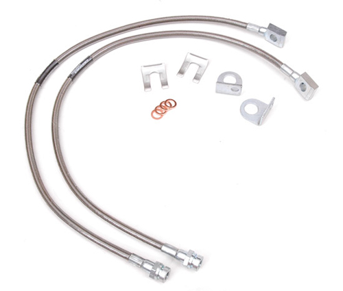 Fat Bob's Garage, Rough Country Part #89702, Jeep Wrangler TJ/YJ Cherokee XJ Stainless Steel Brake Lines MAIN