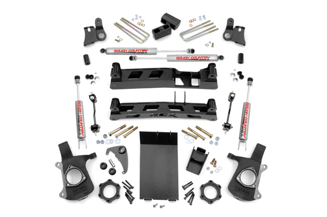 "Fat Bob's Garage, Rough Country Part #258N2, Chevrolet/GMC 4"" Non-Torsion Drop Lift Kit 1999-2006_THUMBNAIL"
