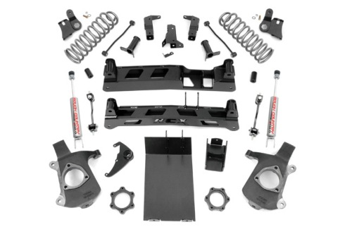 "Fat Bob's Garage, Rough Country Part #279N2, Chevy Tahoe/Yukon/Suburban 6"" Non-Torsion Drop Suspension Kit 4WD 2000-2006 THUMBNAIL"