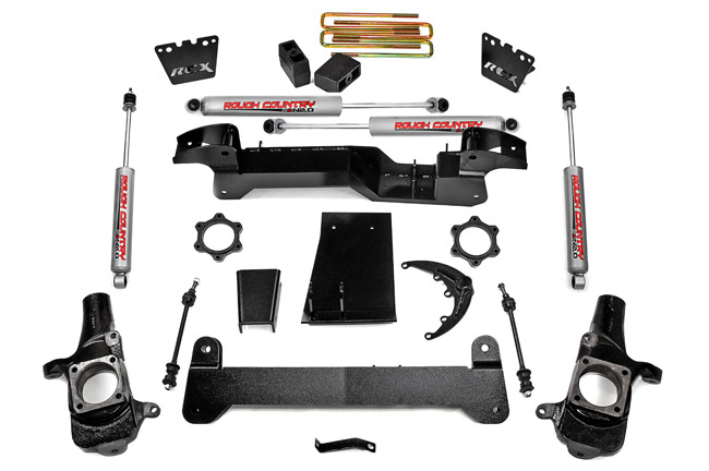 "Fat Bob's Garage, Rough Country Part #259N2, Chevy 1500 HD Pickup 6"" Suspension Lift Kit 4WD 2001-2006 THUMBNAIL"