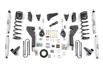"Fat Bob's Garage, Zone Offroad part #D24/D25, Dodge Ram 2500/3500 8"" Suspension Lift Kit 4WD Diesel 2003-2007 MAIN"