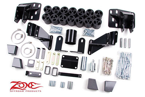 "Fat Bob's Garage, Zone Offroad Part #D9345, Dodge Ram 1500 4WD 3"" Body Lift 2006-2008"