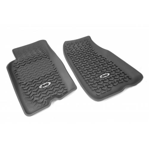 Fat Bob's Garage, Rugged Ridge, Part #DMC-12920.26, All Terrain Floor Liners 93-98 Jeep ZJ Grand Cherokee Jeep Logo MAIN